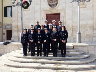 Il corpo di Polizia Locale guidato dal comandante Eramo