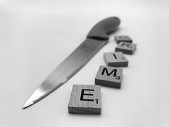 Knife crime stock photo