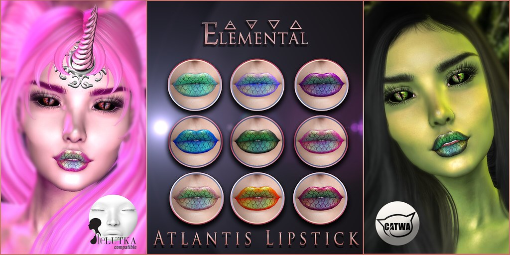– ELEMENTAL – 'Atlantis' lipstick Advert