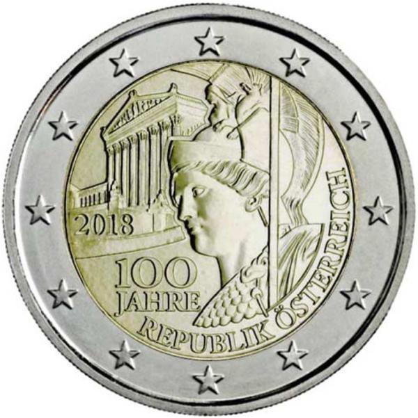 2 Euro Rakúsko 2018, Republika