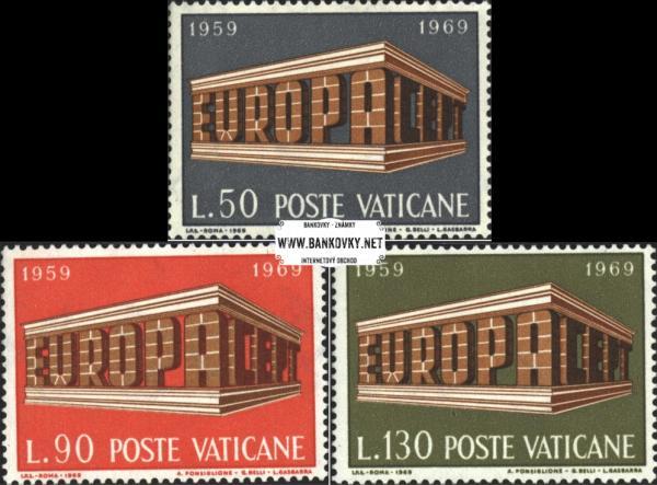Známky Vatikán 1969 Európa, neraz. séria