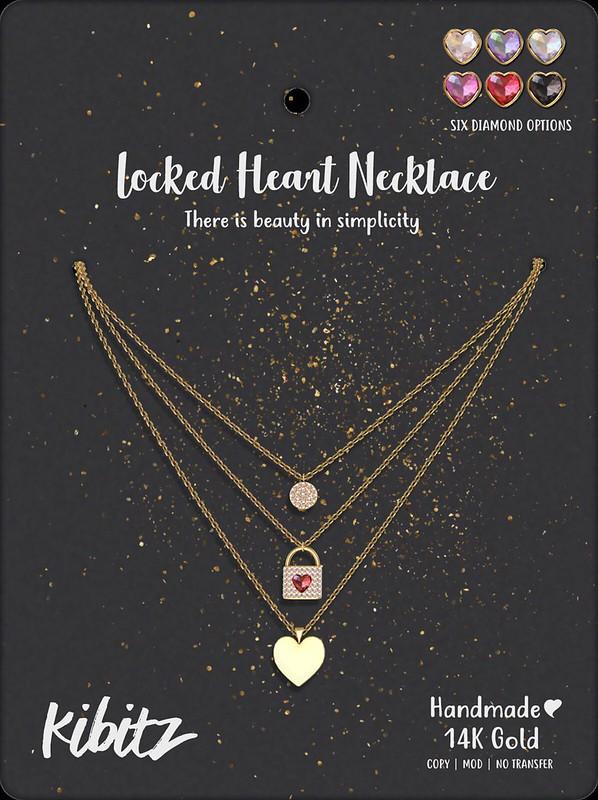 Kibitz locked heart necklace VENDOR