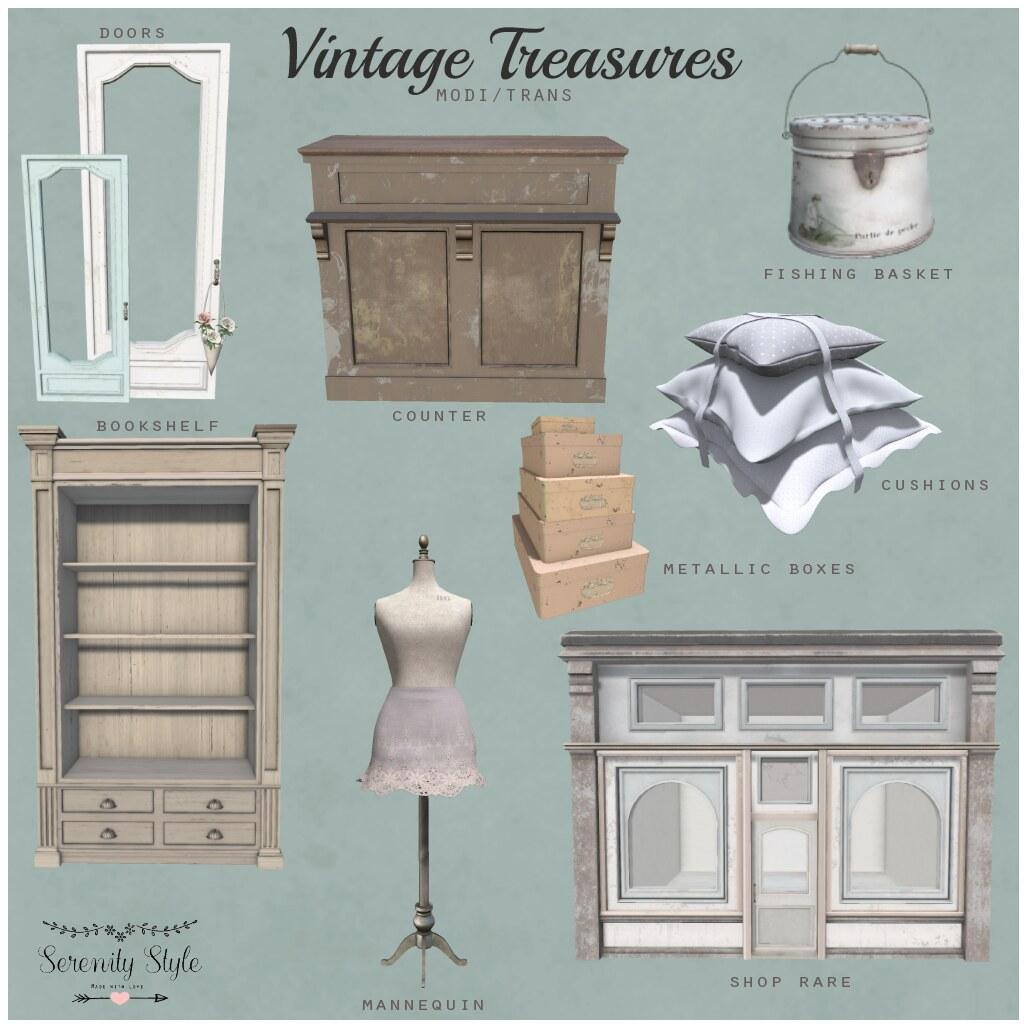 Serenity Style- Vintage Treasures Key