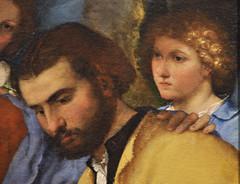Enschede, Twente, Rijksmuseum Twenthe, Adoration od the shepherds {Lotto}, detail