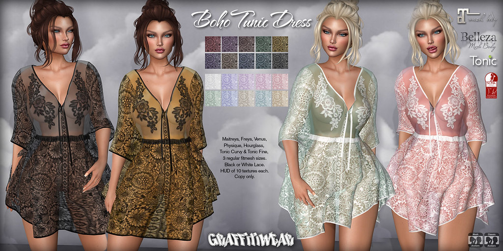 Boho Tunic Dress Ad