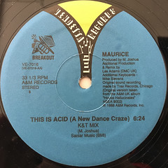 MAURICE:THIS IS ACID(A NEW DANCE CRAZE)(LABEL SIDE-A)