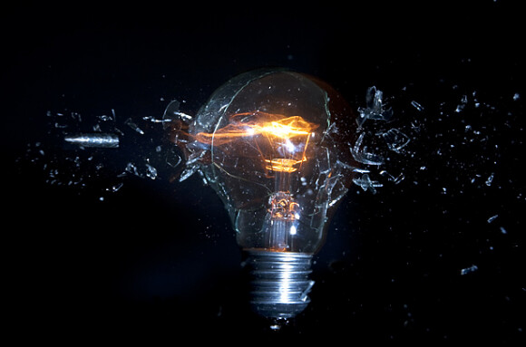 A-light-bulb-being-shot-580x383