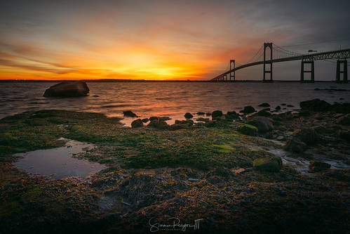 2019 bridge claibornebridge claibornepellnewportbridge connecticutphotographer d750 dawn february landscapephotographer lowtide naturephotographer nikon peaceful rhodeisland sunrise taylorpointlookout winter digital narragansett narragansettbay rockybeach water
