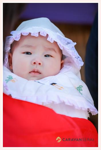 女の子赤ちゃんのお宮参り