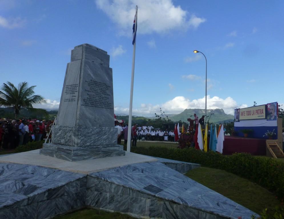 Obelisco Duaba, sede del acto por el 124 aniversario del desembarco de los patriotas
