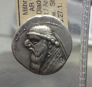 King Mithradates II silver drachm