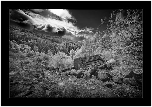 Abandoned, Garafía, La Palma, infrared