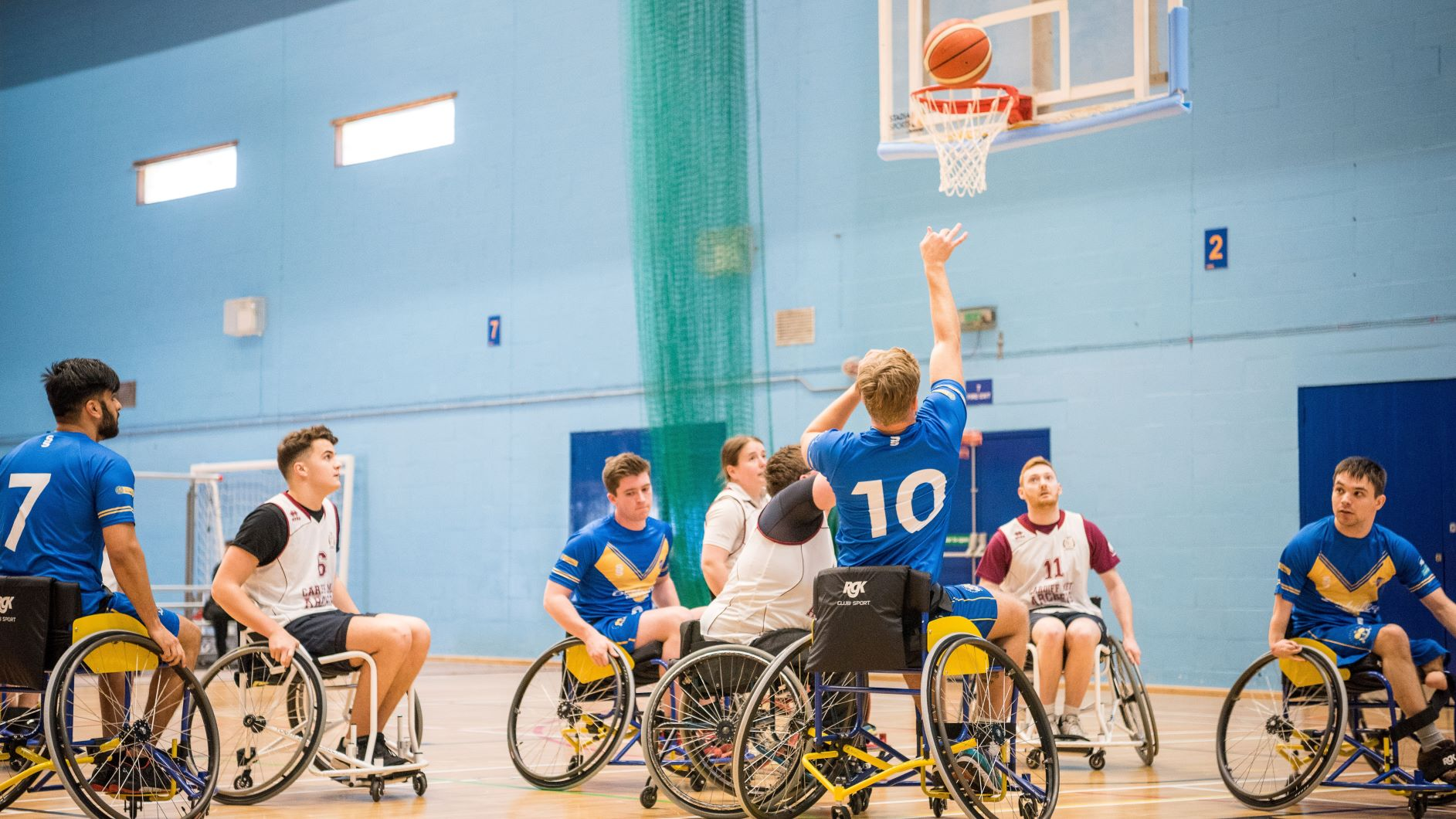 Wheelchair basketball, supported by the Alumni Fund