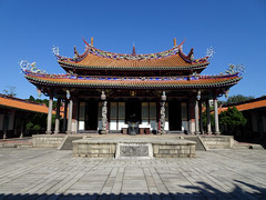 The inner building of the Taipei Confucius Temple