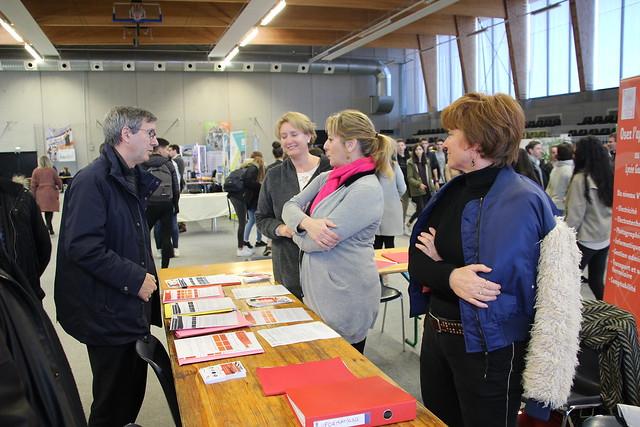 Cenon: les établissements scolaires de la Rive Droite organisent leur forum des formations et reçoivent la visite du recteur Olivier Dugrip et du DAASEN de la Gironde, Pierre Roques