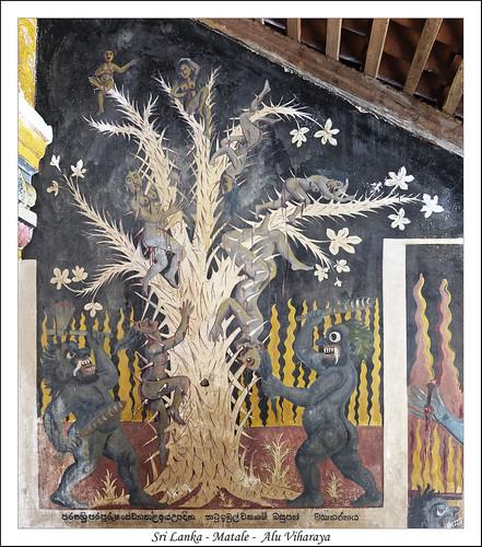 aluviharaya ceylan img1893 srilanka enfer fresco fresque peinture matale lk hell inferno temple