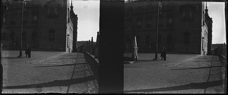 Alcázar de Toledo el 24 de febrero de 1918. Fotografía de Carles Batlle Ensesa © Ajuntament de Girona. CRDI (Carles Batlle Ensesa)
