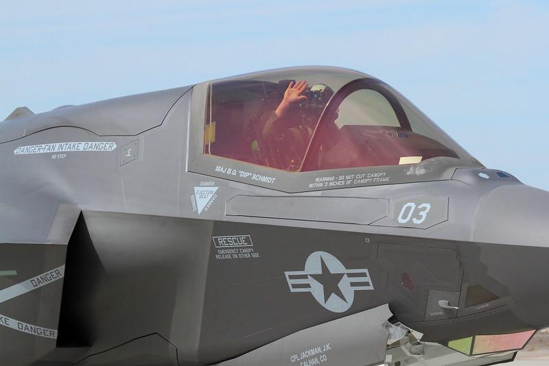 IMG_6200 Pilot of F-35B Lightning II