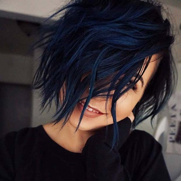 22 Fabulous Blue Black Hair Color Ideas In 2019 Style2 T