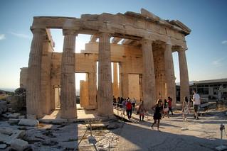 The Parthenon at sundown