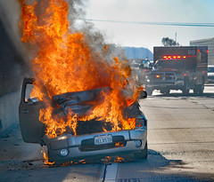 NB 5 Freeway Vehicle Fire