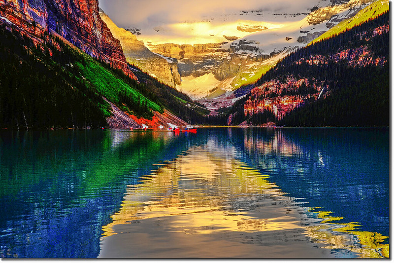 Lake Louise sunrise (2)