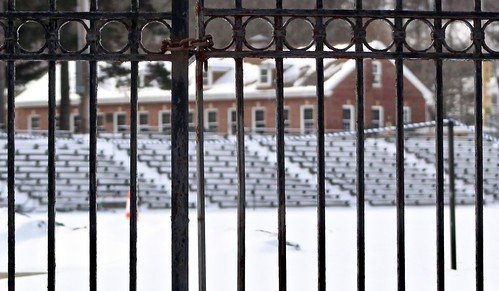 town football stadium closed for winter