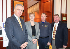 East Granby First Selectman Jim Hayden, Rep. Zawistowski, East Granby VFD Chief Kerry Flaherty and Sen. Kissel support HB 5125 'An Act Increasing the Property Tax Abatement for Certain First Responders'