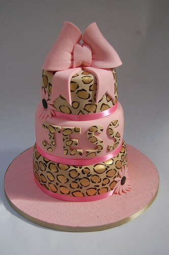 Fine Lovely Leopard Print 3 Tiered Cake Beautiful Birthday Cakes Funny Birthday Cards Online Aeocydamsfinfo