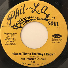 THE PEOPLE'S CHOICE:THE WOOTIE-T-WOO(LABEL SIDE-B)