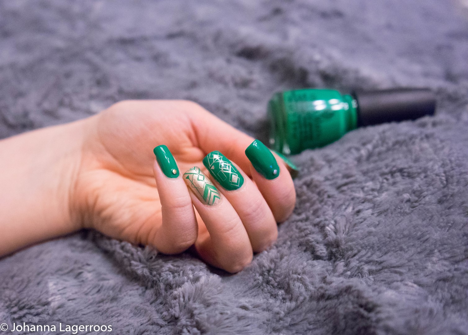 china glaze green nails