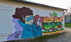Aytré cité, graffitis