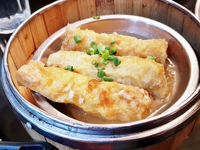 Steamed Shrimp Tofu Beancurd Skin Roll