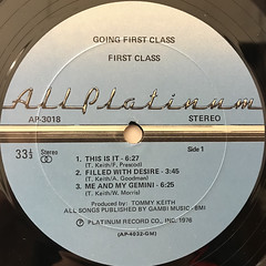 FIRST CLASS:GOING FIRST CLASS(LABEL SIDE-A)