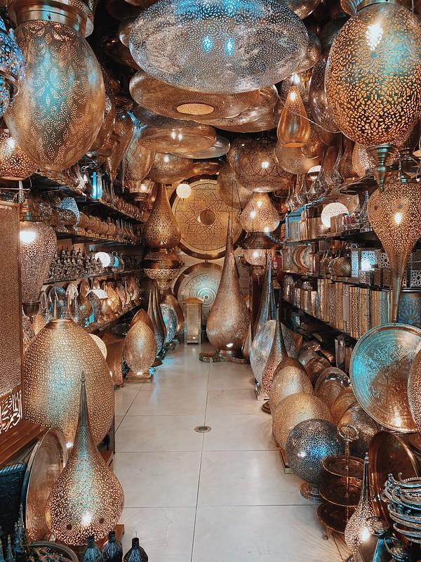 Negozio di lampade artigianali