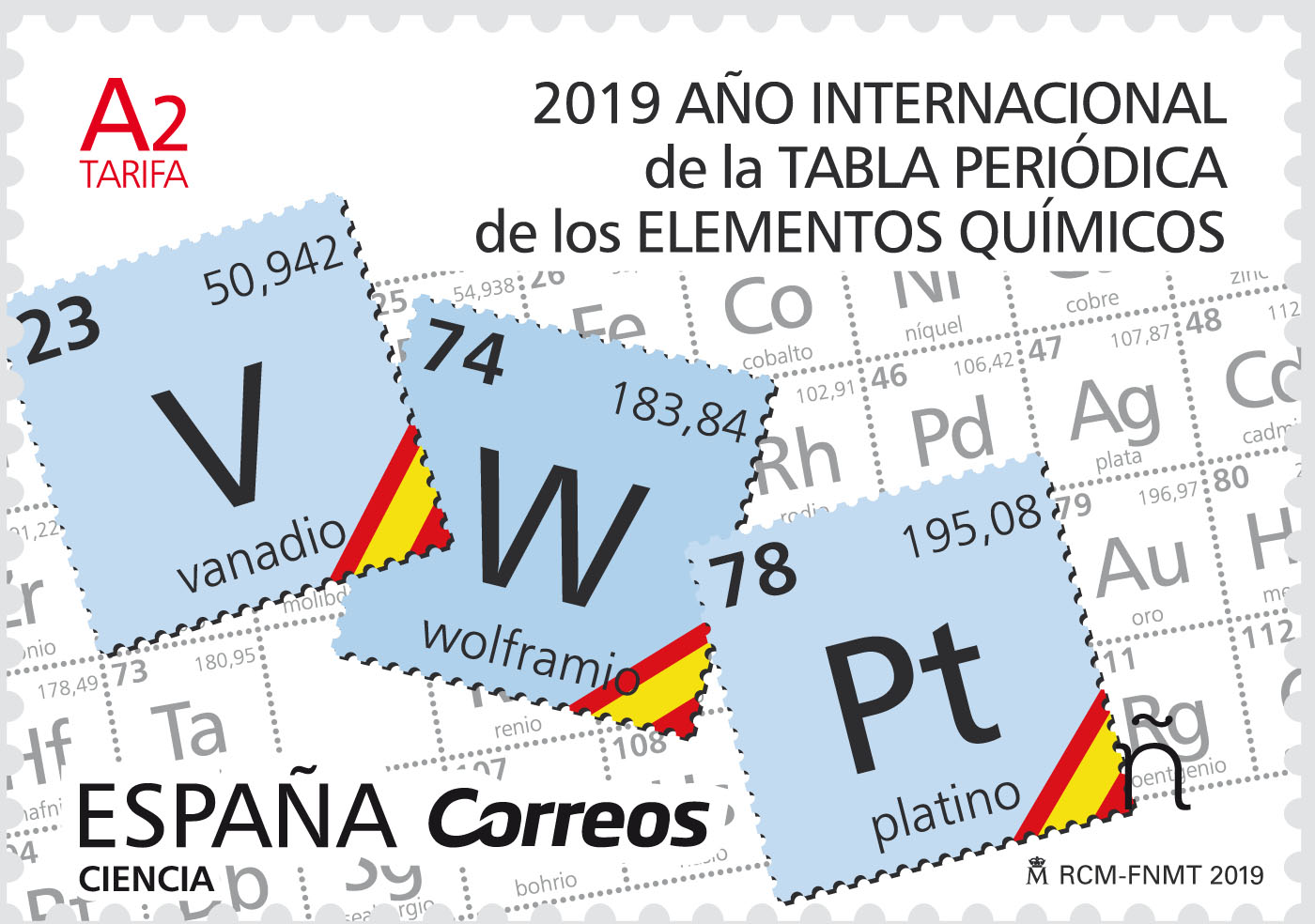 Spain - International Year of the Periodic Table (January 9, 2019)