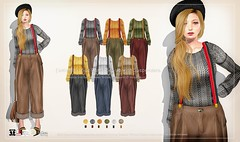 {amiable}WIde Pants Set-up with Suspenders@ N°21 February(50%OFF SALE). [Flickr]