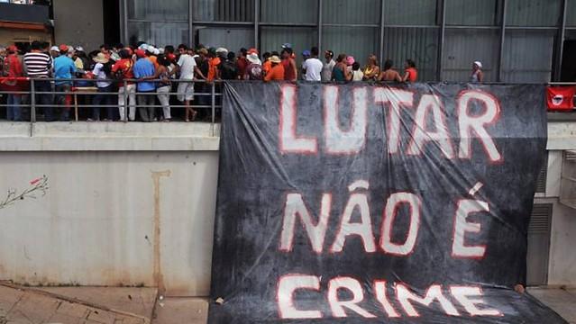 Integrantes do MST em ocupação do Incra por reivindicação de reforma agrária em Brasília, em 2010 - Créditos: Agência Brasil