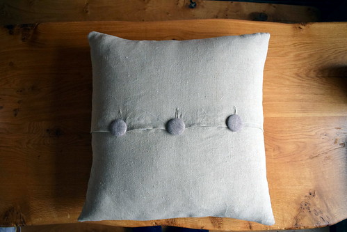 Basket Weave Linen Cushion | by Just Jude Designs