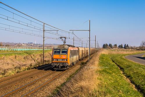 24 février 2019 BB 26188 Train 53934 Perpignan -> Rungis Saint-Pierre-d'Aurillac (33)