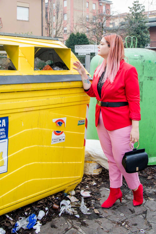 Outfit curvy e plus size, rosso e rosa per San Valentino (6)