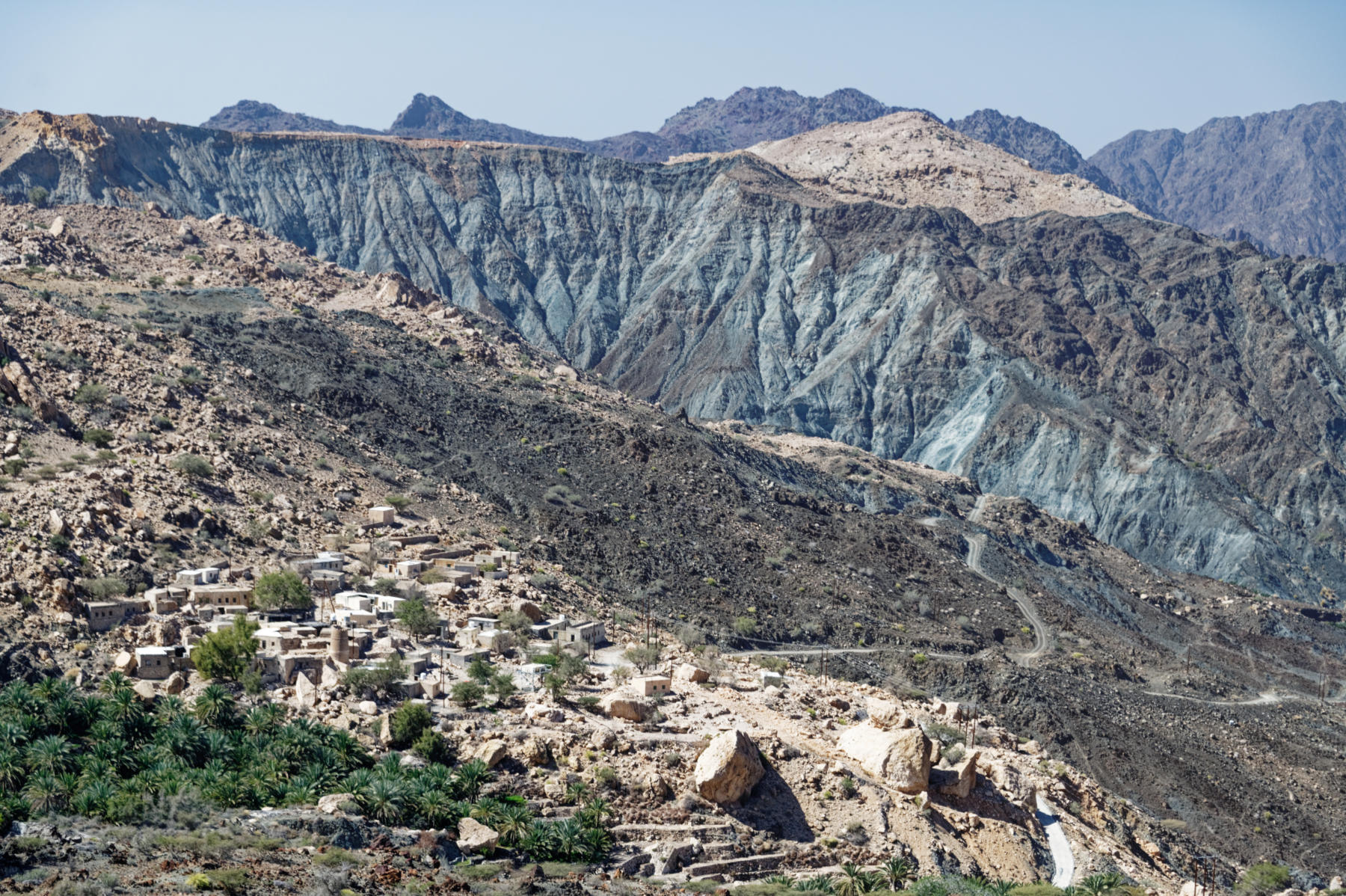 Hajar Mountain scenery, Oman