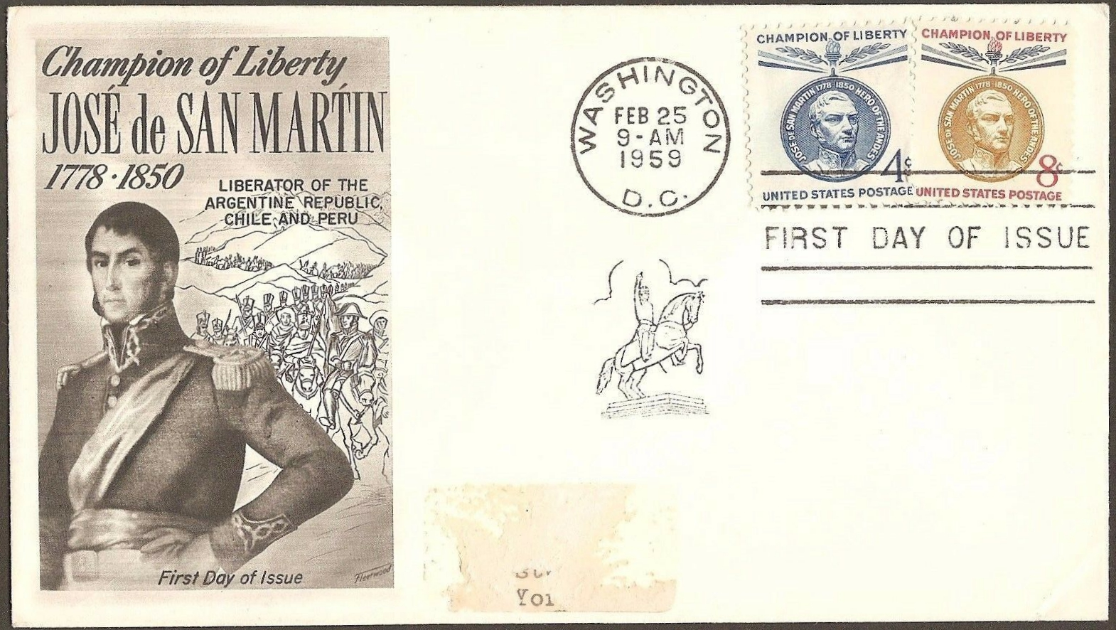 United States - Scott #1125-1126 (1959) first day cover and ceremony program