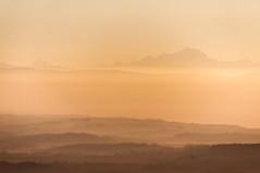 Le Mont-Blanc et la plaine de l'Ain