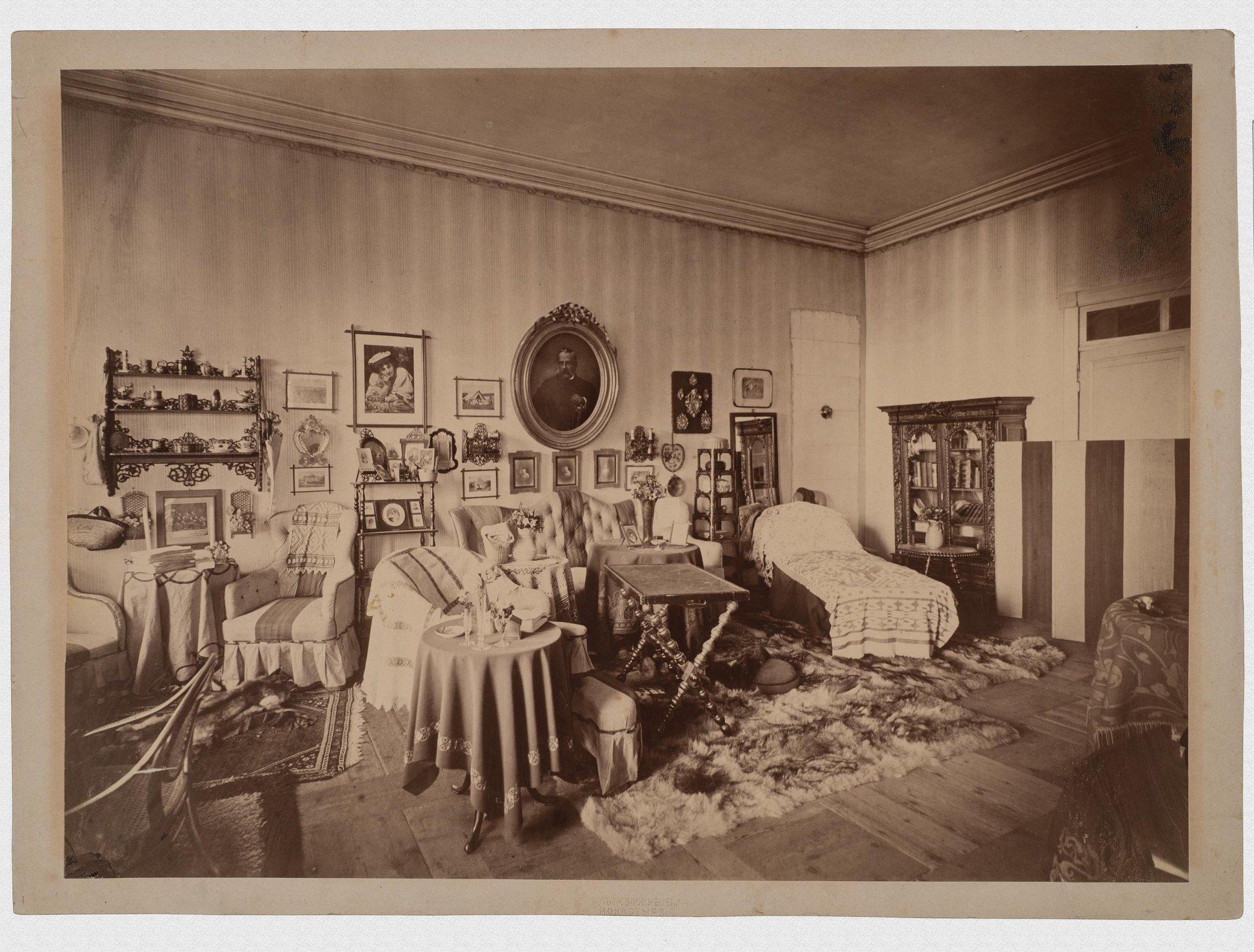 1878. Интерьер в Покровском