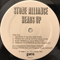 STONE ALLIANCE:HEADS UP(LABEL SIDE-A)