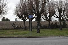 """""""route de la centrale"""" sign"""