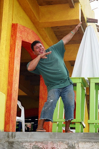Man laughing at me at Barra de Navidad in Mexico