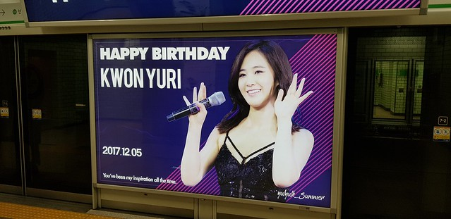 Happy Birthday Kwon Yuri! Yeoksam Subway Station, Seoul, Korea