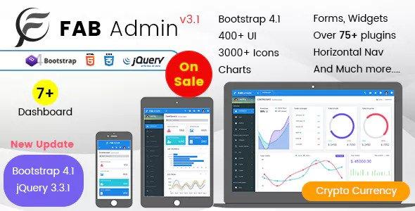 Fab Admin - Responsive Admin Dashboard Template Web App